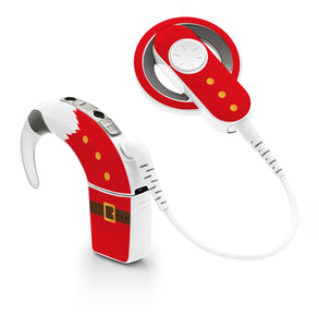 Santa Claus skin for Cochlear Implant, Advanced Bionics