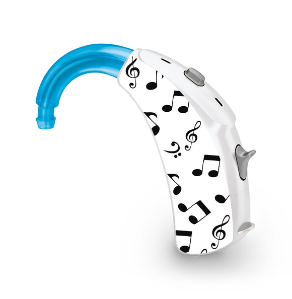 Music Notes skin for Hearing Aid