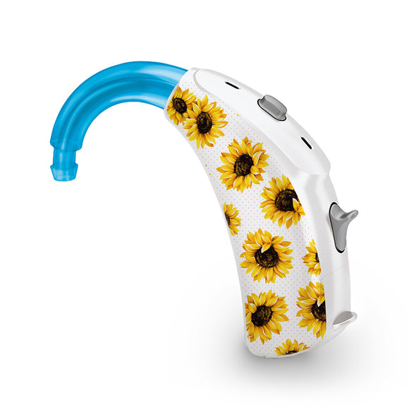 Sunflowers skin for Hearing Aid