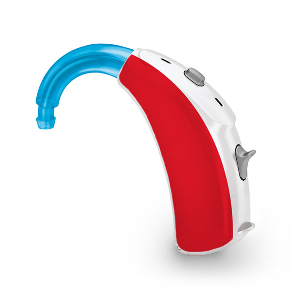 Red skin for Hearing Aid