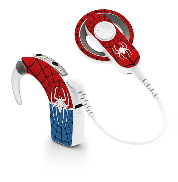 Spider Man skin for Cochlear Implant, Advanced Bionics
