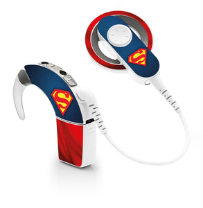 Superman skin for Cochlear Implant, Advanced Bionics