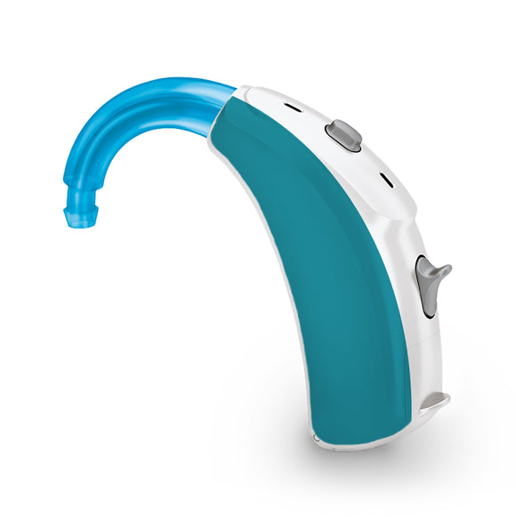 Teal skin for Hearing Aid