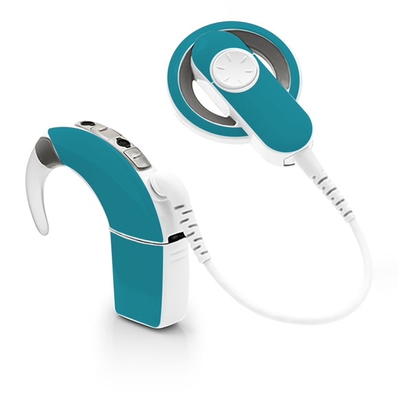 Teal skin for Cochlear Implant, Advanced Bionics