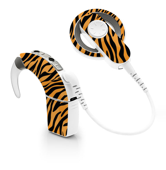 Tiger Print skin for Cochlear Implant, Advanced Bionics