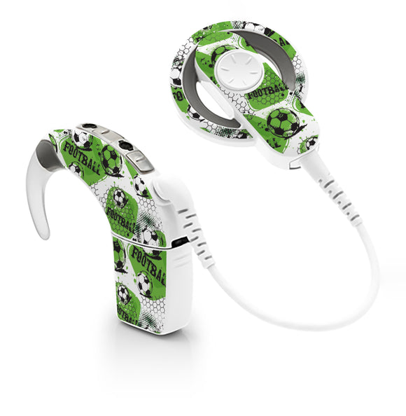 Urban Football skin for Cochlear Implant, Advanced Bionics