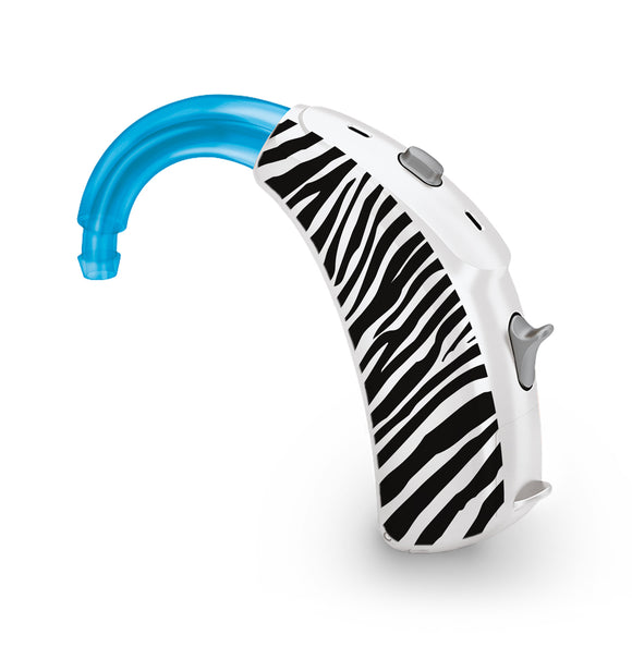 Zebra Print skin for Hearing Aid