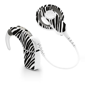 Zebra Print skin for Cochlear Implant, Advanced Bionics