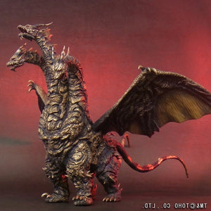"13"" Inch Tall HUGE Kaiser Ghidorah Ric (LIGHT UP) LED 2004 TOHO Monster X Figure LIMITED EDITION Figure X-Plus 25cm Scale"