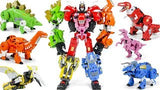 "19"" Inch Deformation BMB Dino Force Volcanicus Combiner 6-Pack ""Dinosaurs"" Oversized Dinobots G1 Figure Black Mamba (BMB)"