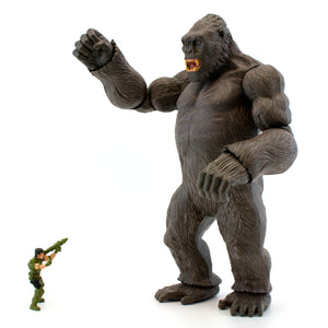 "18"" Inch Tall HUGE King Kong 2017 Skull Island + 3.75"" Figure Poseable Plastic Lanard Figure Lanard"
