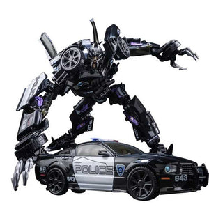 "07"" Inch Deformation BMB LS-02 Barricade Bottleneck ""Police Car"" Oversized Masterpiece Movie 'MPM-5' Figure Black Mamba (BMB)"