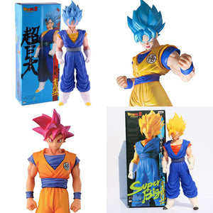 "14"" Inch Tall HUGE (Lot 4 in 1) ""SUPER BIG"" Dragon Ball Z Complete Set Goku Vegetto (Vegito)"