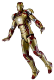 "18"" Inch Tall HUGE Iron Man Mark 42 (LIGHT UP) LED 1/4 Scale NECA Figure Discontinued (Ironman 3) Figure NECA"