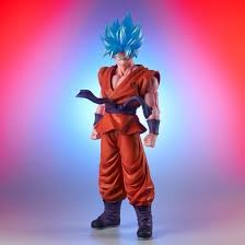 "19"" Inch Tall HUGE (LIGHT UP) LED SSGSS Goku Blue X10 Kaio-ken LE Kaioken 1/4 Scale LIMITED EDITION Figure X-Plus Gigantic Series"
