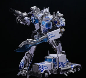 "10"" Inch Deformation LT-02W Optimus LE (WHITE) ""Big Rig"" Oversized Masterpiece Movie 'MPM-4' Robot"