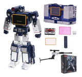 "10"" Inch THF-01C Sonic Shadow Wave Laser Bird Soundwave (Clear) + Laserbeak ""Cassette"" Oversized G1 Figure Toy House Factory (THF)"