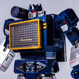 "10"" Inch THF-01 Sonic Wave Laser Bird Soundwave (BLUE) + Laserbeak ""Cassette"" Oversized G1 Figure Toy House Factory (THF)"