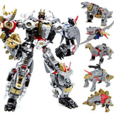 "19"" Inch Deformation DELUXE BMB Volcanicus Combiner 6-Pack ""Dinosaurs"" ALLOY LE Oversized Dinobot G1 Figure Black Mamba (BMB)"