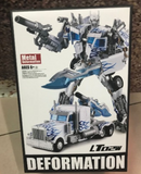 "12"" Inch Deformation LT-02W Optimus LE (WHITE) ""Big Rig"" Oversized Masterpiece Movie 'MPM-4' Robot Figure Legendary Toys (LT)"