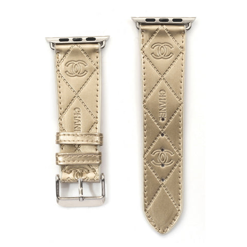 Gold CC Apple Watch band