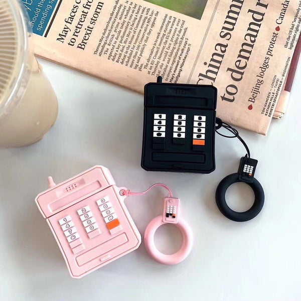 Vintage phone Silicone Airpod Case