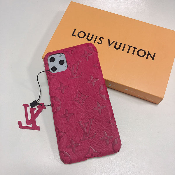 Red LV Faux Wood Luxury Case