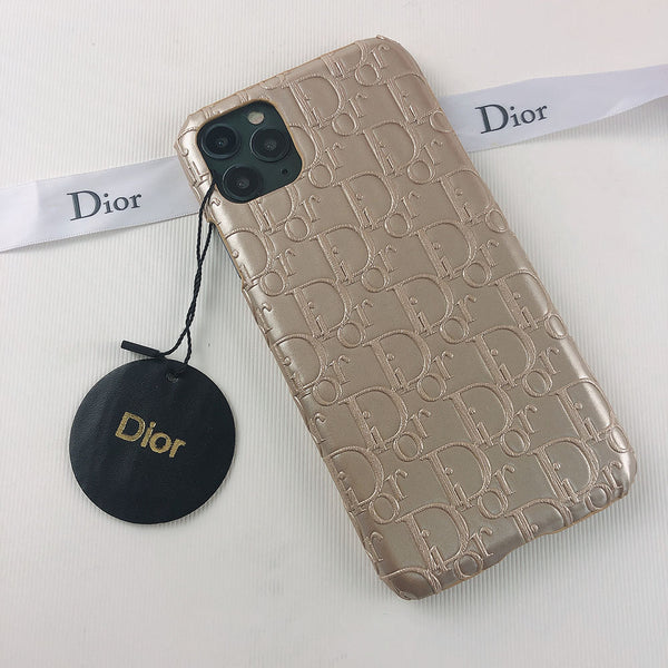 Dior Gold Leather Case