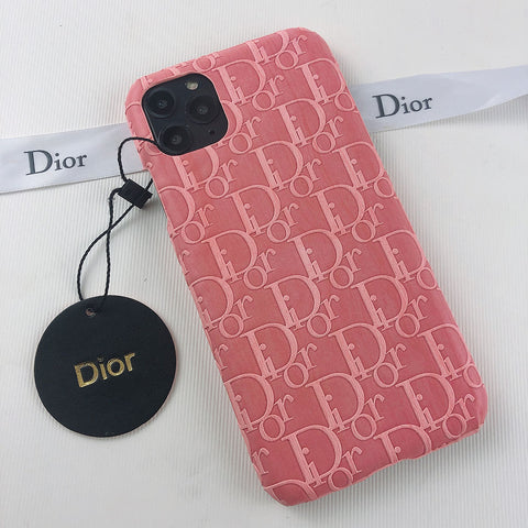 Dior Pink Leather Case