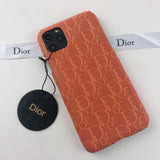 Dior Orange Leather Case