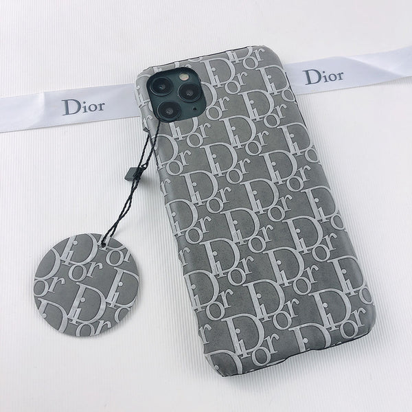 Dior Grey Leather Case