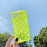 Transparent Neon Yellow LV Tpu case