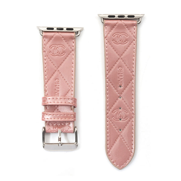Pink CC Apple Watch band