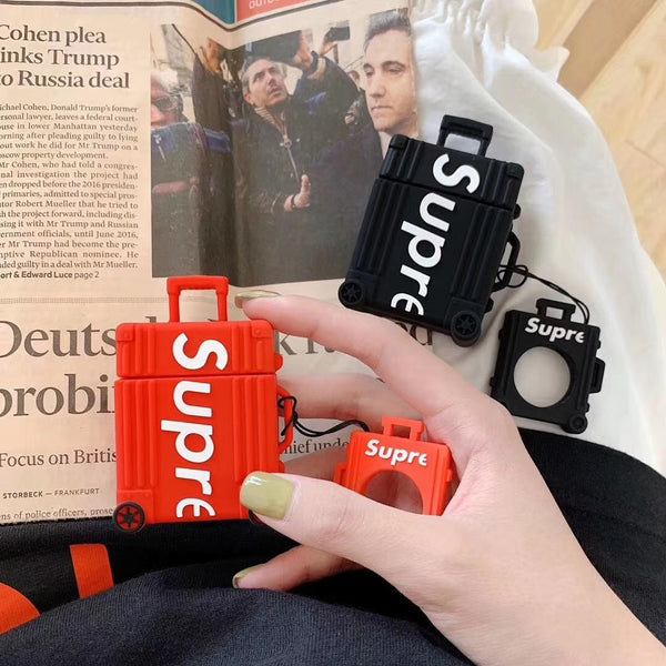 Supreme luggage silicone airpod case