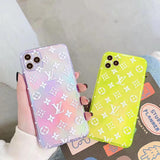 Transparent Neon Clear LV Tpu case