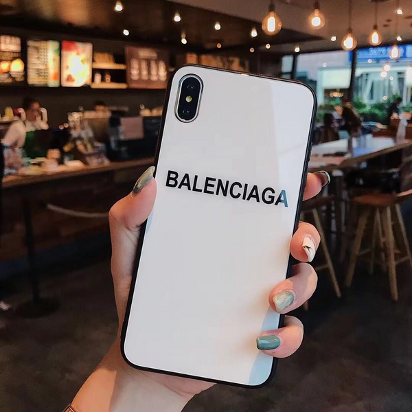 White Mini Balenciaga Glass Case