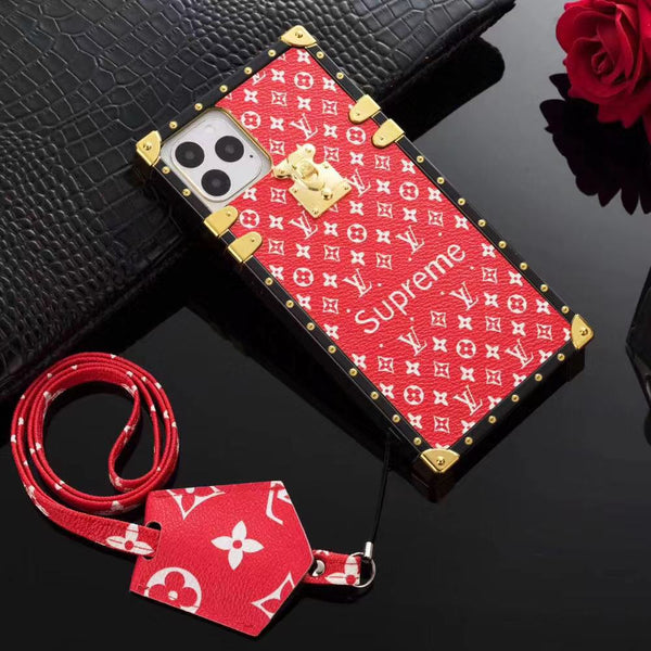 Supreme x LV TPU tiny logo phone case
