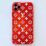 Transparent Neon Red LV Tpu case