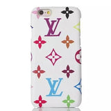 White Colorful LV Supreme Luxury Case