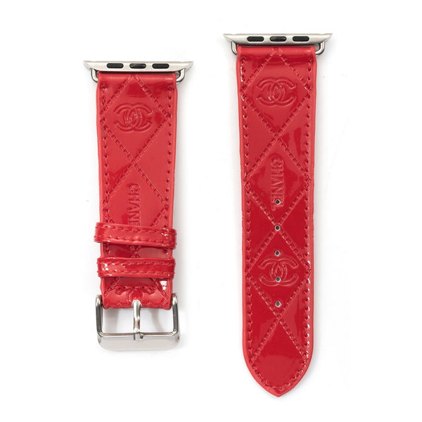 Red CC Apple Watch band