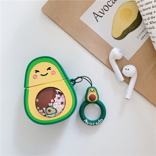 Glitter Avocado Airpod Case