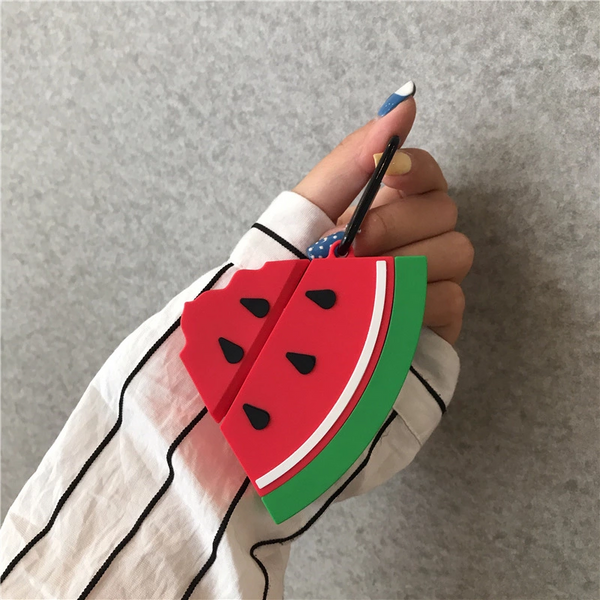 Watermelon Slice Silicone Airpod Case