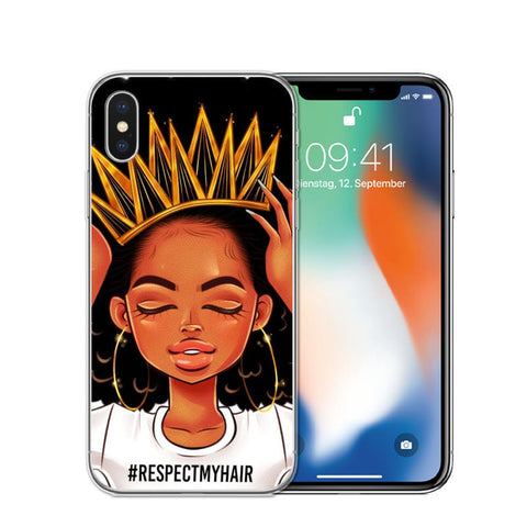Respect my Hair Transparent TPU case