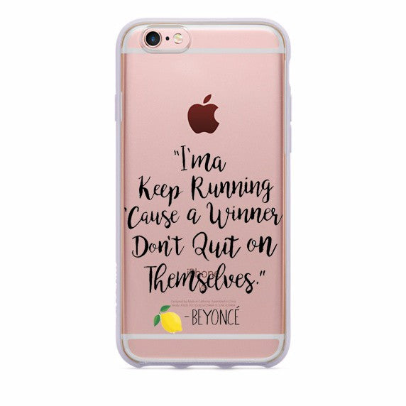 Lemonade Lyrics TPU case