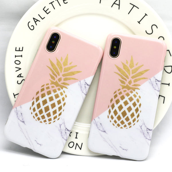 Marble Pineapple TPU case