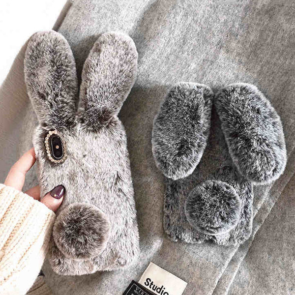 Rabbit Android Ears Fur Case