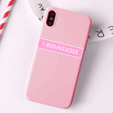 1800 His Loss pink case