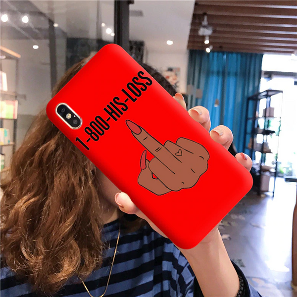 His loss finger red case