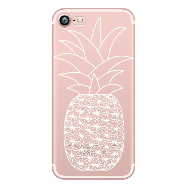 White Big Pineapple TPU case