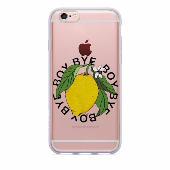 Boy Bye Lemonade Lyrics TPU case